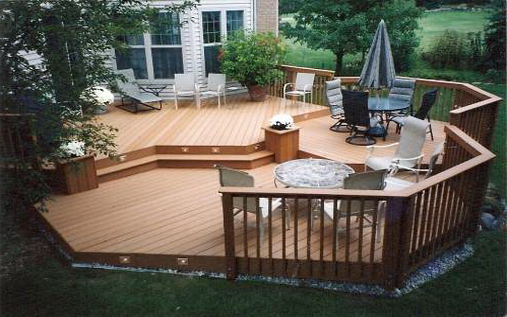 Outside Deck Designs Backyard Patio Pictures Ideas With Hot Tub And pertaining to 12 Clever Tricks of How to Build Backyard Wood Patio Ideas
