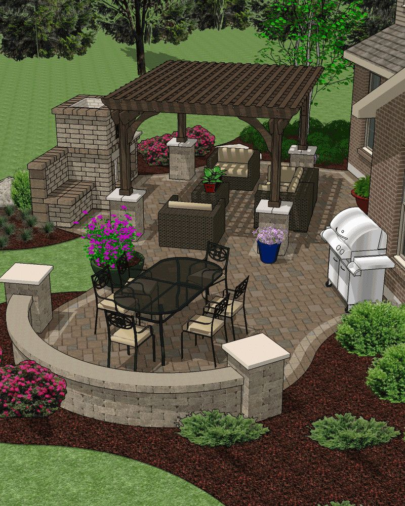 Patio Hardscape Accessory Plans Backyard Decks Landscaping In regarding 10 Some of the Coolest Concepts of How to Build Hardscape Backyard Ideas