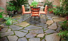 Patio Stone Flooring Ideas Home Decor Library throughout Backyard Floor Ideas