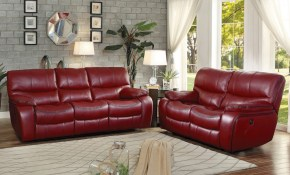 Pecos 2 Piece Power Living Room Set Red Buy Online At Best Price within Red Living Room Sets For Sale
