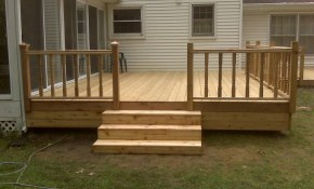 Pin Katherine Dewett On New House Cedar Deck Deck Railings in 15 Clever Initiatives of How to Craft Simple Backyard Deck Ideas