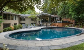 Pool Landscaping Design Toronto Backyard Swimming Pool pertaining to Backyards With Pools And Landscaping