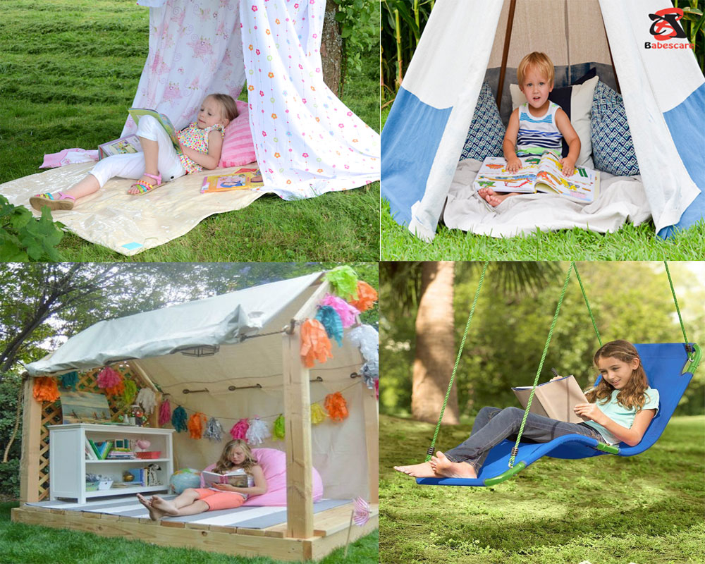 Reading Nook Ideas Relaxing Kids Outdoor Reading Nook Ideas For Backyard intended for 12 Awesome Designs of How to Improve Backyard Camping Ideas For Children