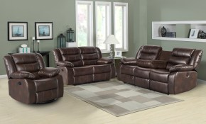 Red Barrel Studio Trista Reclining 3 Piece Living Room Set Wayfairca with Three Piece Living Room Set