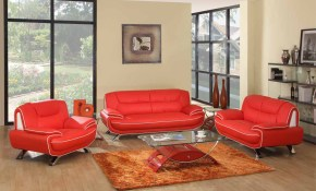 Red White Genuine Leather Living Room Gu405 Casye Furniturecasye regarding 14 Awesome Tricks of How to Upgrade Genuine Leather Living Room Sets