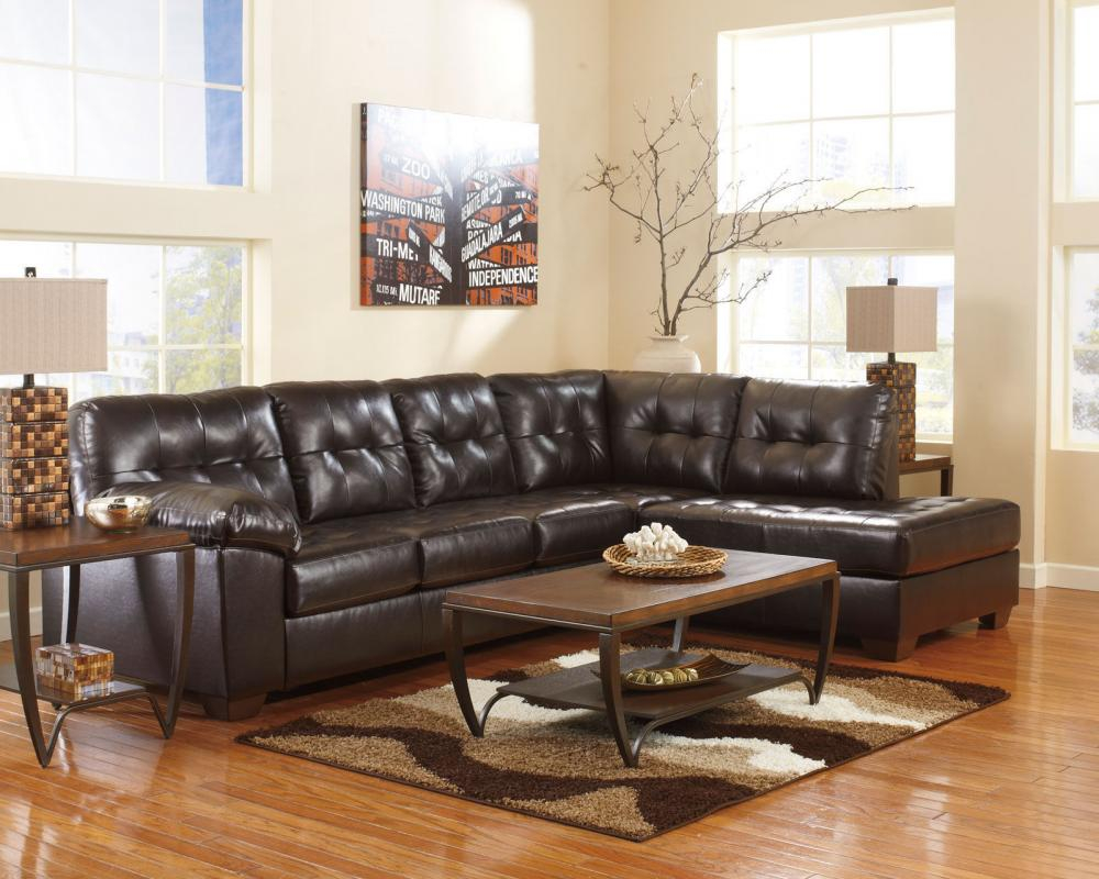 Regency Living Room Furniture Brown Bonded Leather Sofa Chaise inside Living Room Leather Set