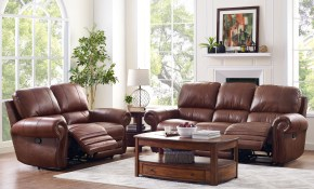 Rossi Collection Leather 2 Piece Light Brown Living Room Set throughout Cheap 2 Piece Living Room Sets