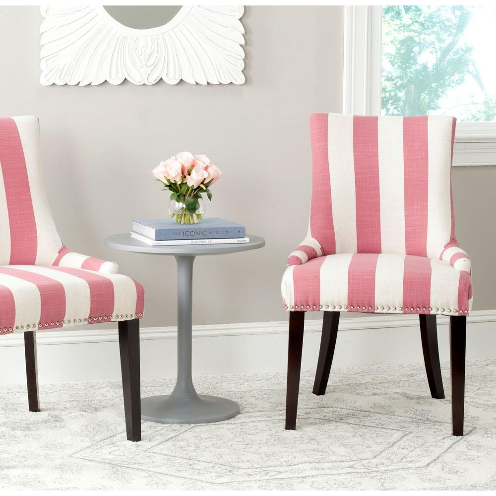 Safavieh Lester Pink And White Linen Blend Dining Chair Set Of 2 regarding 10 Smart Ways How to Build Pink Living Room Set