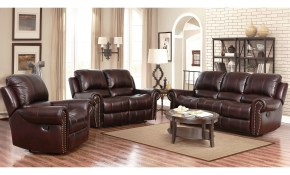 Shop Abson Broadway Top Grain Leather Reclining 3 Piece Living inside Living Room Set Deals