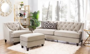 Shop Abson Claridge Taupe Velvet 3 Piece Living Room Set Free throughout 14 Smart Initiatives of How to Build 3 Piece Living Room Set