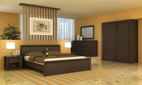 Simple Modern Bedroom Decorating Ideas With Calm Wall Color Shades for Brown Modern Bedroom