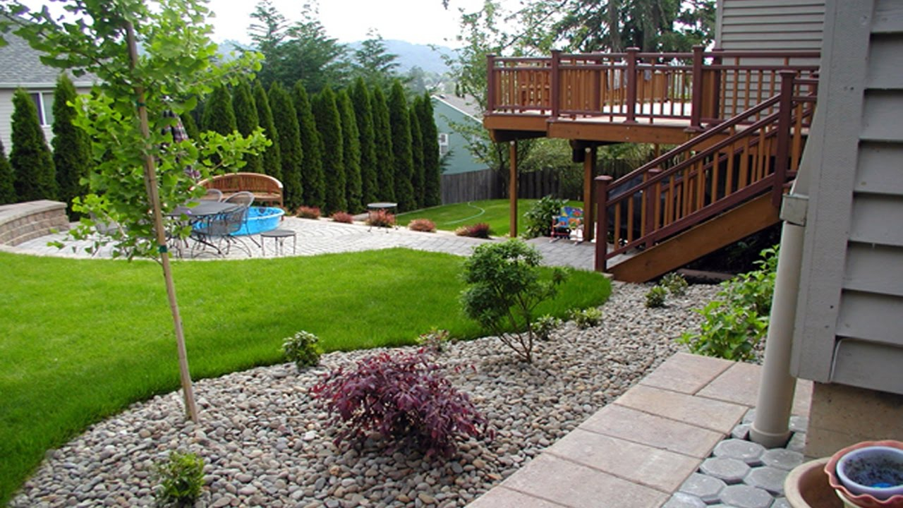 Simple Small Backyard Landscaping Ideas Youtube inside 12 Smart Initiatives of How to Build Simple Backyard Landscape Ideas