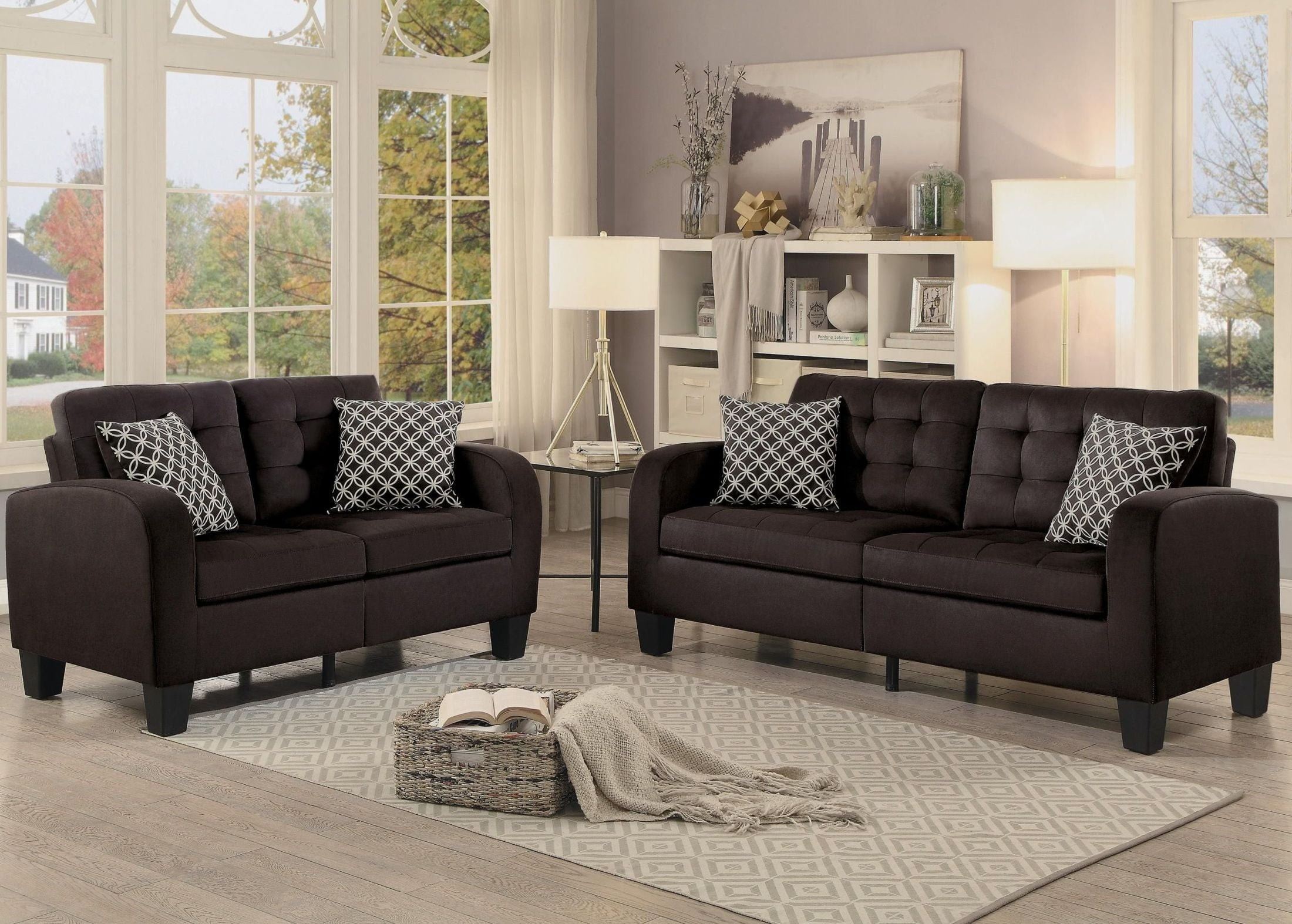 Sinclair Chocolate Living Room Set From Homelegance Coleman Furniture within 12 Awesome Concepts of How to Craft Chocolate Living Room Set