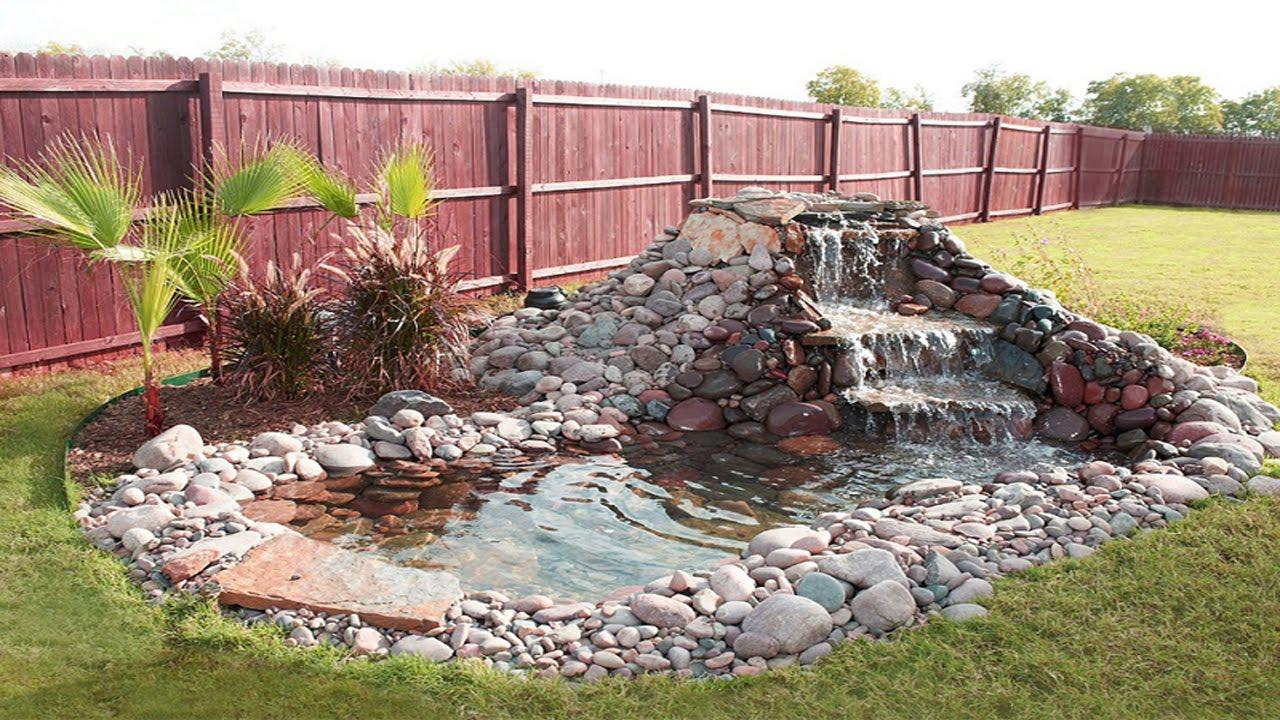 Sizable Waterfall Ideas Small Garden Ponds With Waterfalls Beautiful For regarding Small Backyard Waterfall Ideas