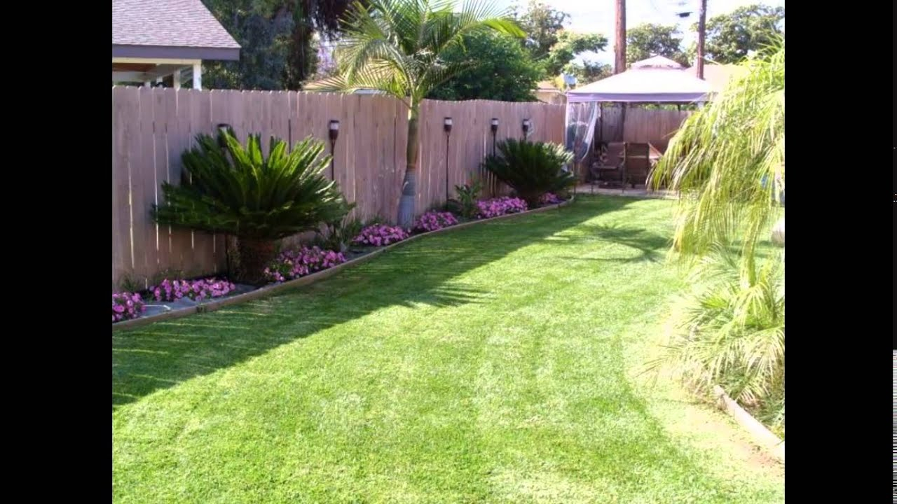 Small Backyard Ideas Small Backyard Landscaping Ideas Youtube regarding 12 Clever Concepts of How to Improve Ideas For Landscaping Small Backyards
