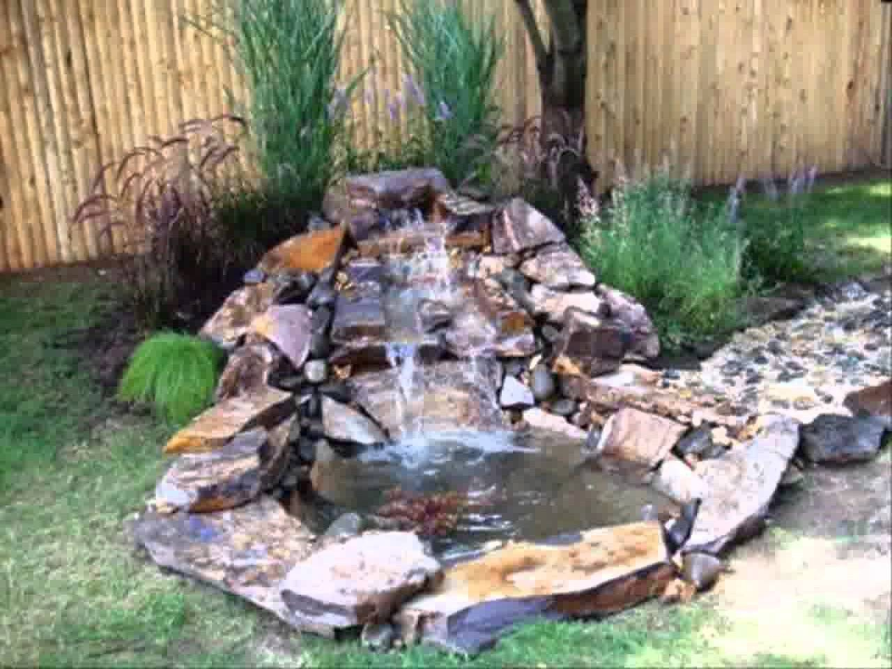 Small Backyard Waterfall Ideas Home Garden Ponds And Waterfalls throughout 10 Awesome Designs of How to Makeover Small Backyard Waterfall Ideas