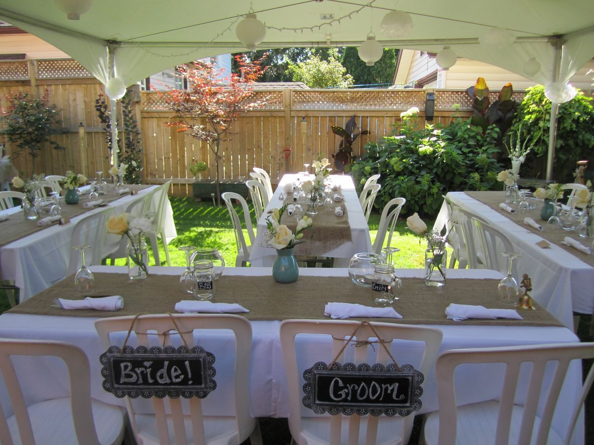 Small Backyard Wedding Best Photos Wedding Backyard Wedding inside Simple Backyard Wedding Ideas
