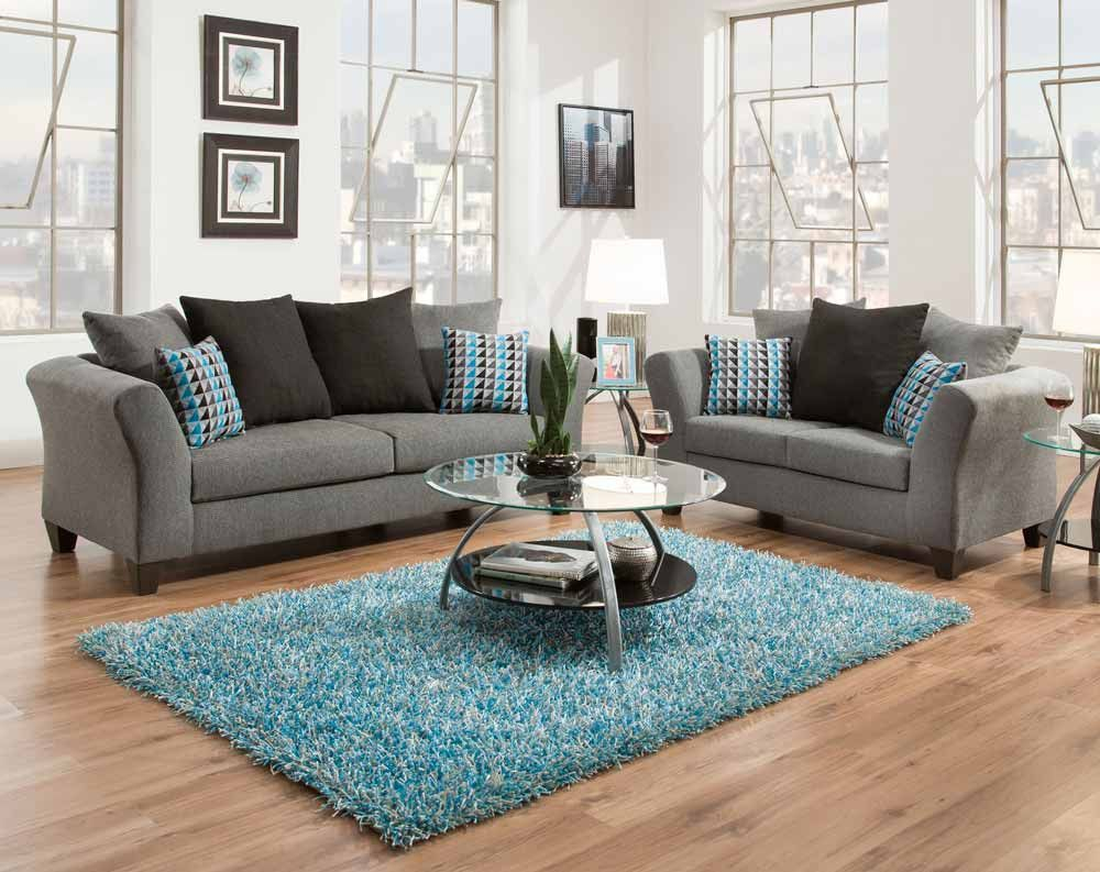 Sottile Gray Sofa Loveseat American Freight This Home Living in American Freight Living Room Set