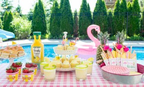 Summer Backyard Flamingo Pool Party Ideas The Polka Dot Chair pertaining to 13 Smart Initiatives of How to Makeover Fun Backyard Party Ideas