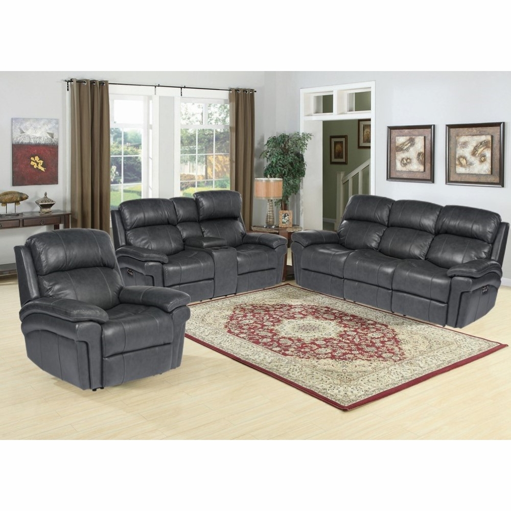 Sunset Trading Luxe Leather 3 Piece Reclining Living Room Set inside 3 Piece Leather Reclining Living Room Set