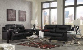 Tensas Black Contemporary Living Room Set Leather Living Room Sets in 14 Awesome Tricks of How to Build Black Living Room Set