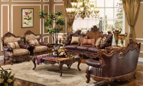 The Normandy Formal Living Room Collection Living Room Furniture with regard to Traditional Leather Living Room Sets