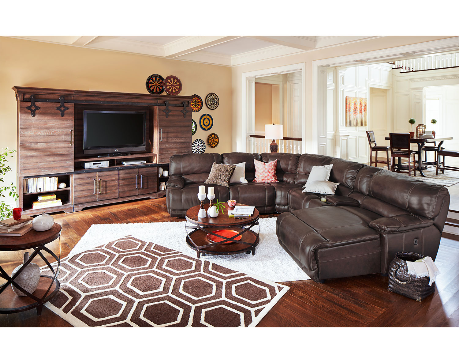 The St Malo Collection Brown Value City Furniture And Mattresses pertaining to Value City Living Room Sets