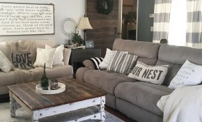 This Country Chic Living Room Is Everything Rachelbousquet Has Us for 15 Clever Concepts of How to Craft Rustic Living Room Set