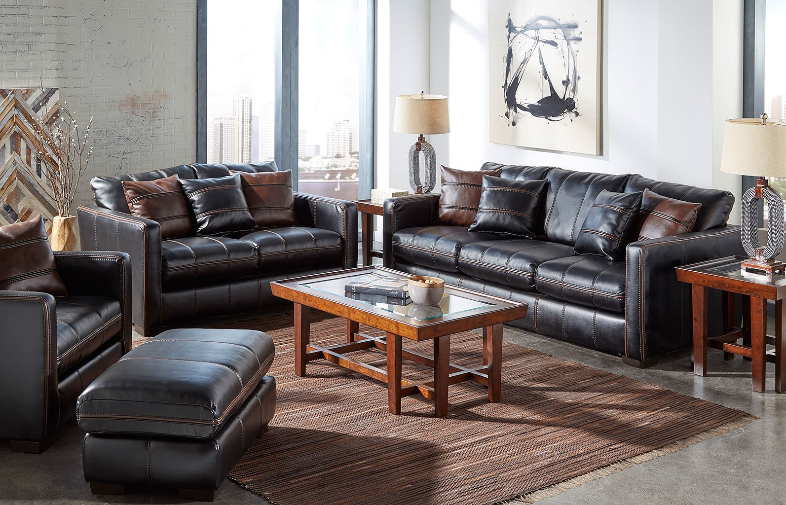 Tucker Living Room Set Black Living Room Furniture Living with regard to 12 Awesome Tricks of How to Make Black Leather Living Room Set