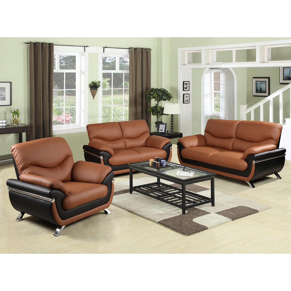 Two Tone Red And Black Leather Three Piece Sofa Set Sh216 The Home for Black Leather Living Room Set
