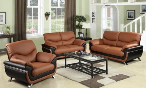 Two Tone Red And Black Leather Three Piece Sofa Set Sh216 The Home throughout 10 Clever Designs of How to Craft Three Piece Living Room Set