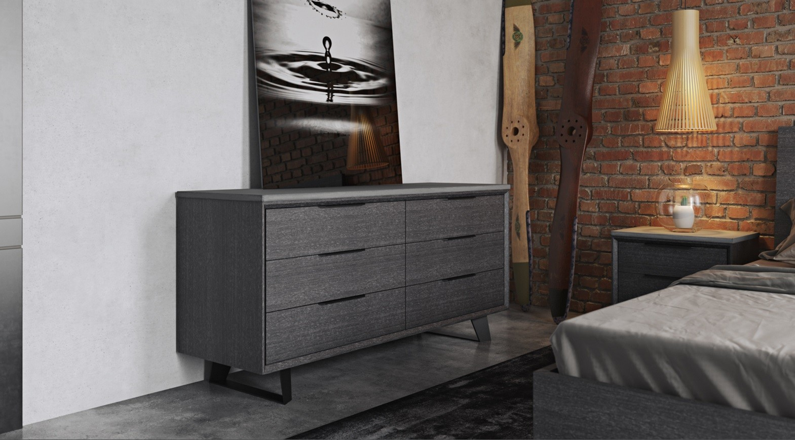 Urbano Gray Oak Contemporary Bedroom Dressers Modern Bedroom Dresser in Gray Modern Bedroom