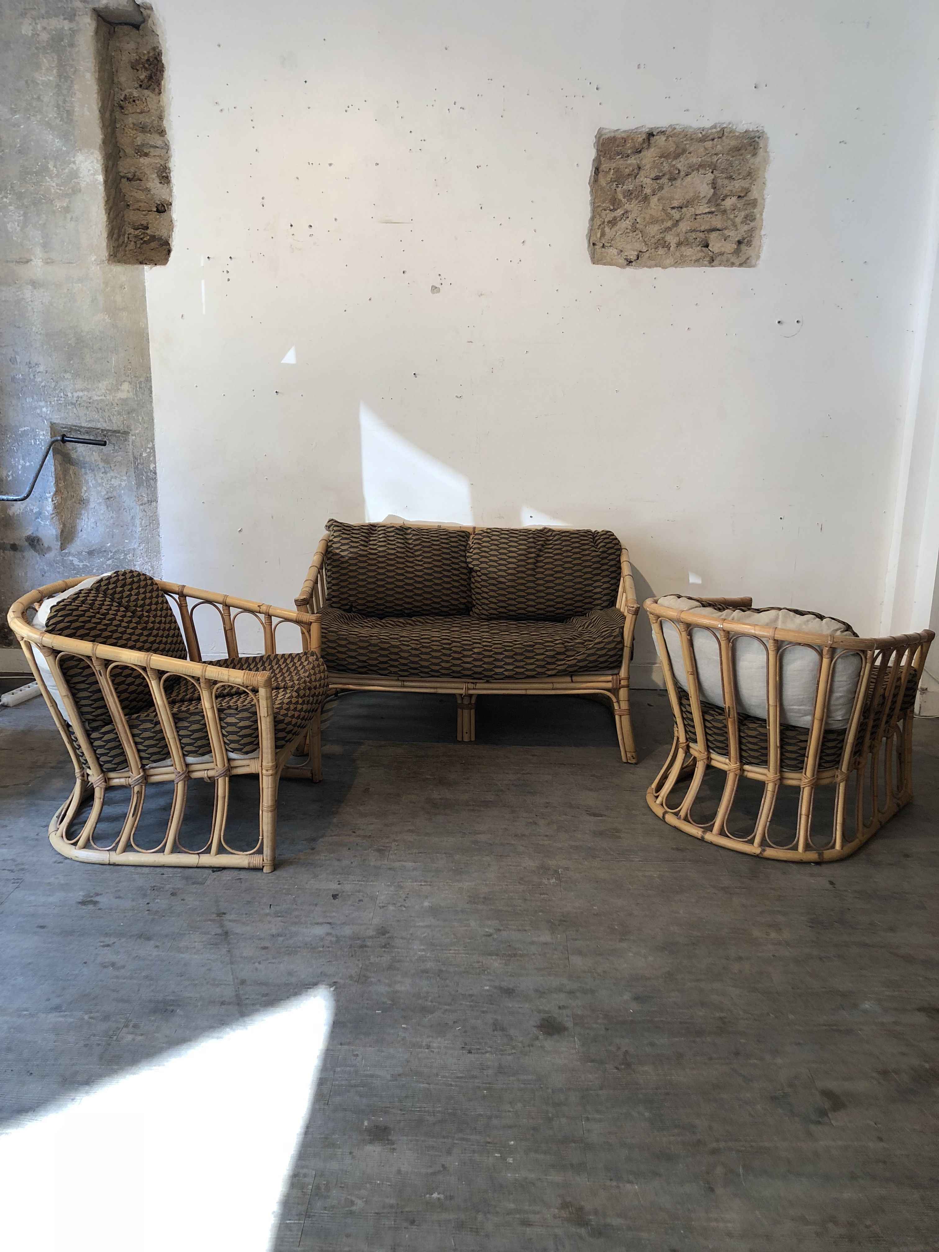 Vintage Living Room Set In Wicker And Rattan Design Market throughout 10 Clever Ways How to Improve Vintage Living Room Sets