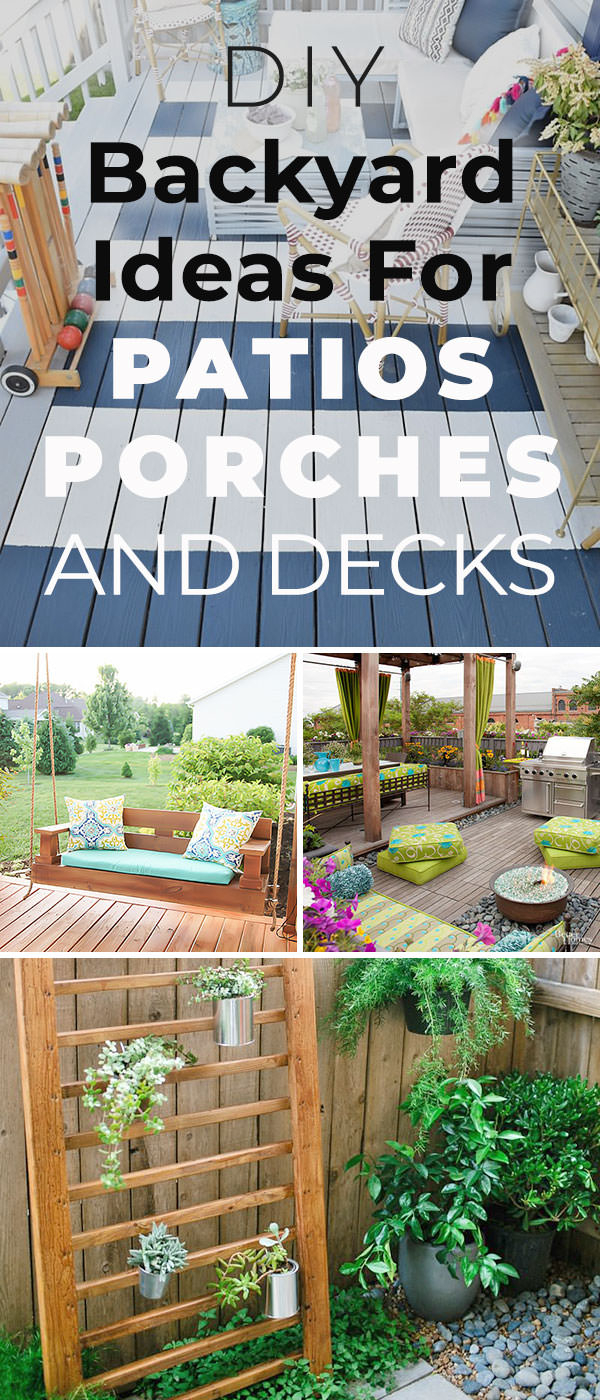 12 Diy Backyard Ideas For Patios Porches And Decks The Budget with regard to 11 Awesome Designs of How to Craft Backyard Ideas
