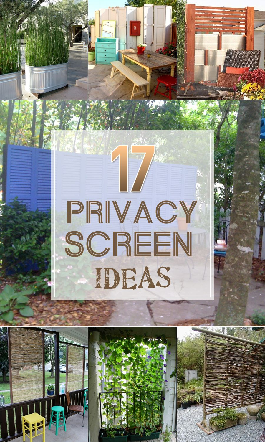 17 Privacy Screen Ideas Thatll Keep Your Neighbors From Snooping intended for 10 Smart Ideas How to Improve Backyard Privacy Ideas