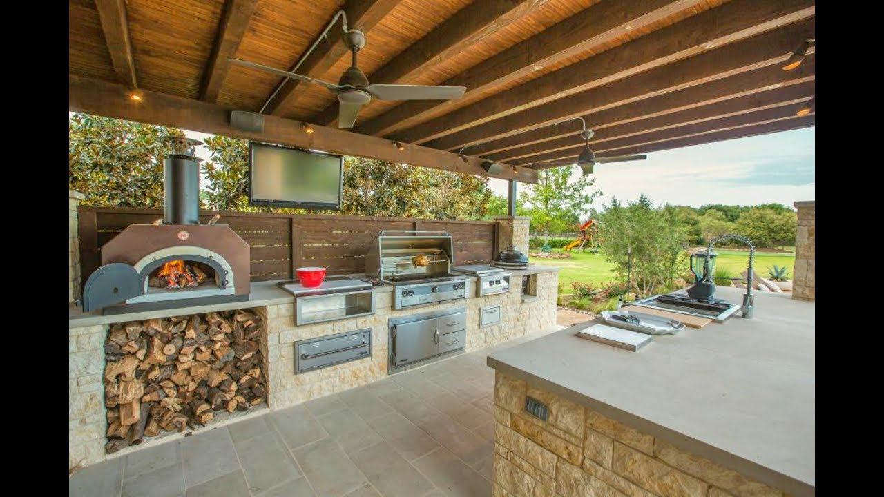 189 Outdoor Kitchen And Grill Design Ideas 2018 Small And Big in Backyard Kitchen Design Ideas