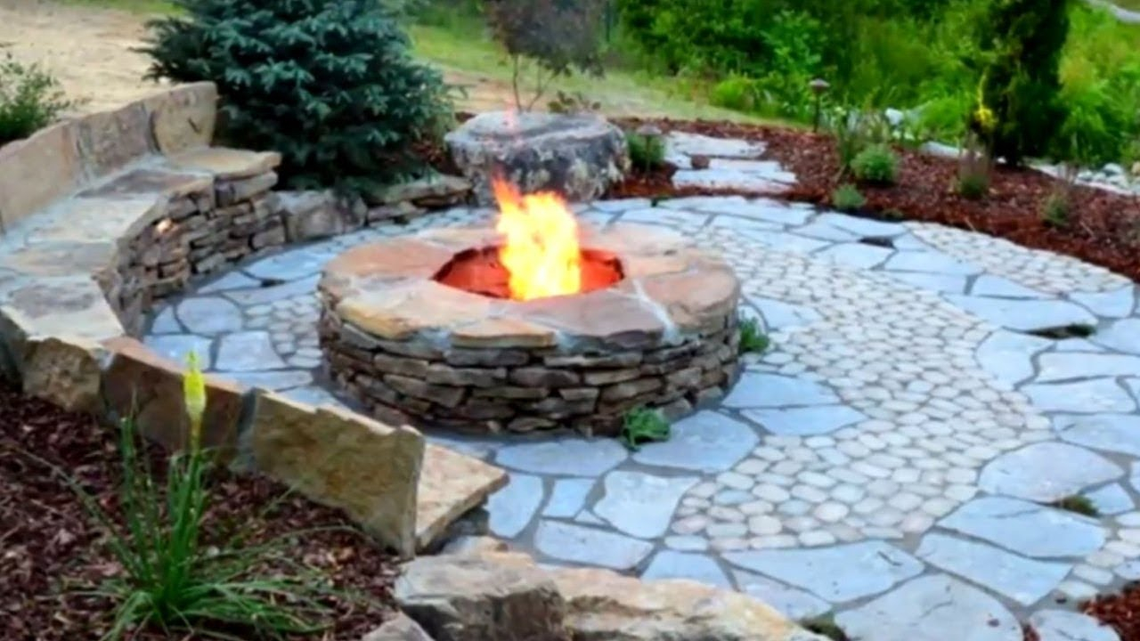 22 Rustic Style Fire Pit Ideas Youtube within 14 Awesome Ways How to Improve Backyard Fire Pits Ideas