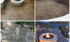 24 Amazing Stamped Concrete Patio Design Ideas Remodeling Expense in Concrete Patio Ideas Backyard