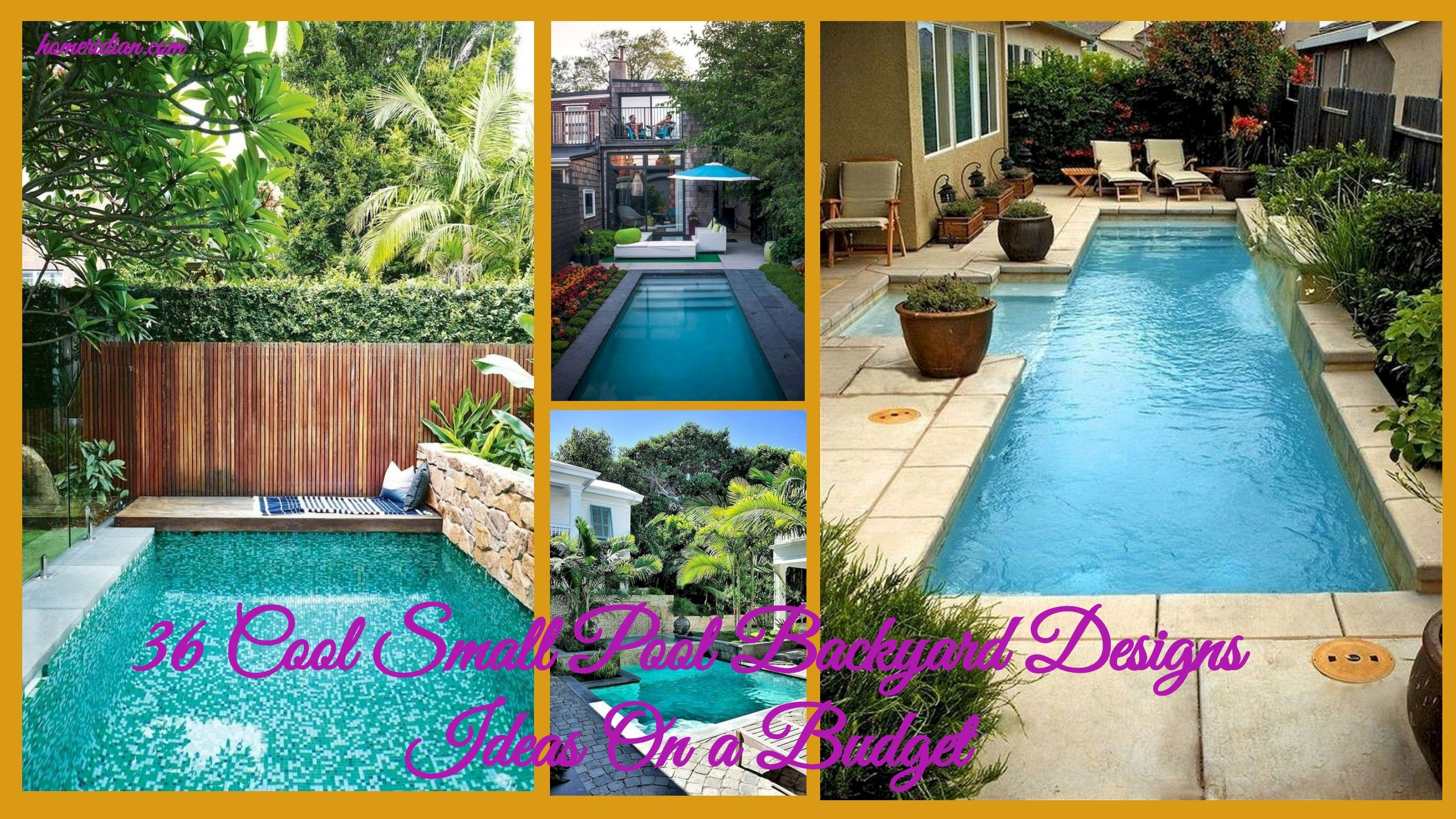 36 Cool Small Pool Backyard Designs Ideas On A Budget Homeridian in Small Backyard Design Ideas On A Budget