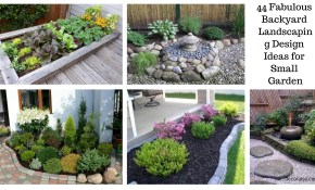 44 Fabulous Backyard Landscaping Design Ideas For Small Garden in 14 Clever Initiatives of How to Build Landscape Design Ideas For Small Backyards