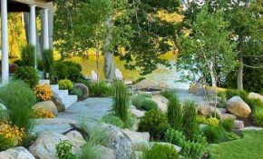 50 The Best Rock Garden Landscaping Ideas To Make A Beautiful Front with Backyard Landscaping Ideas With Rocks