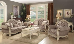 Antique White Gray Living Room Sofa Classic Acme Furniture 56020 with 13 Smart Tricks of How to Build Antique Living Room Set