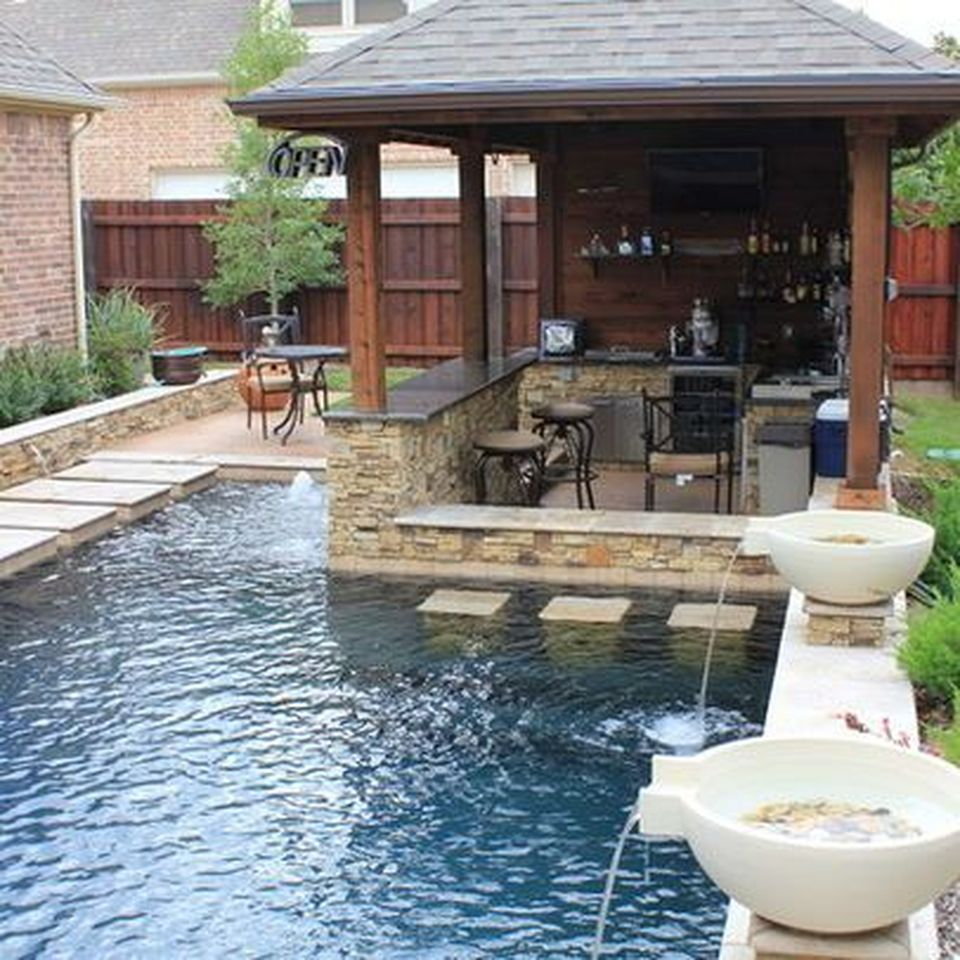 Awesome Yard And Outdoor Kitchen Design Ideas 23 Hoommy intended for 13 Awesome Designs of How to Makeover Backyard Kitchen Design Ideas
