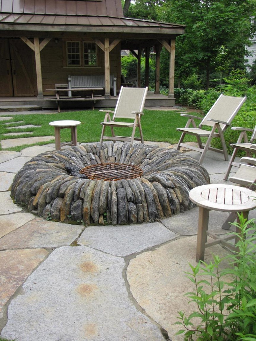 Backyard Fire Pit Ideas With Simple Design Floating Lawn Chair regarding 14 Awesome Ways How to Improve Backyard Fire Pits Ideas