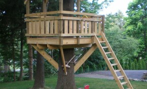 Backyard Fort Plans Contemporary Treehouse Ideas Patio Design And within Backyard Fort Ideas