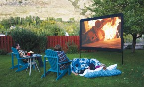 Backyard Movie Theater Screens Backyard Refuge regarding Backyard Theater Ideas