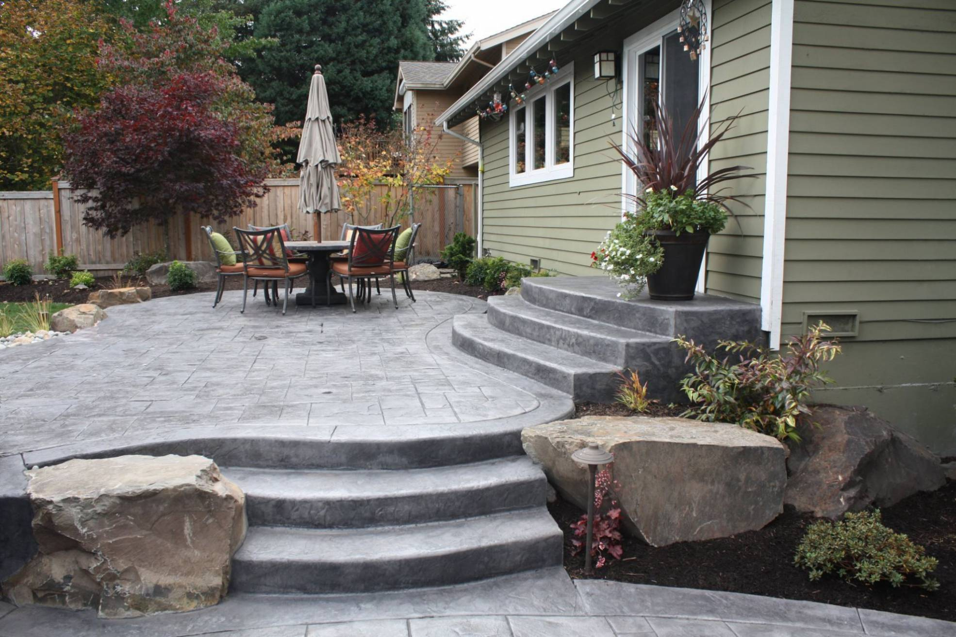 Backyard Stamped Concrete Patio Ideas Air Home Products Concrete with regard to Concrete Patio Ideas Backyard