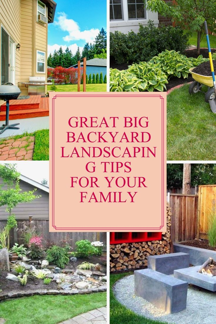 Best Large Back Yard Landscape Ideas That Youll Love Large within Big Backyard Ideas