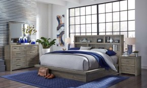 Brownstone Gray 4 Piece Queen Bedroom Set Modern Loft Rc Willey pertaining to 15 Smart Concepts of How to Build Modern Queen Bedroom Sets
