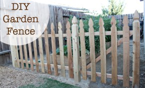 Build An Easy Diy Garden Fence No 2 Pencil within How To Build A Backyard Fence